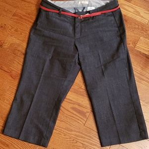 Dockers Jeans - DOCKERs' PETITE Us 14 Cropped Jean's with red belt